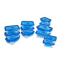 Luminarc 乐美雅 储物气阀保鲜盒12件套YS-L4956(亚马逊自营商品, 由供应商配送)