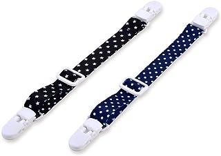 钻石评价 外出用夹子 点&明星 黑色/藏青色 2支装
