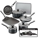 Farberware High Performance Nonstick 17-Piece Cookware Set Farberware High Performance Nonstick 17-Piece Cookware Set 黑色 Set