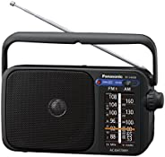 Panasonic 松下电器 RF-2400DEG-K 便携式AM / FM收音机,带有AC / DC和H / P插座