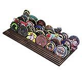 5 排挑战硬币夹 - *硬币展示支架 - 令人惊叹的军事挑战硬币支架 - 可容纳 30-36 个硬币 5 排美国制造! (纯核桃)