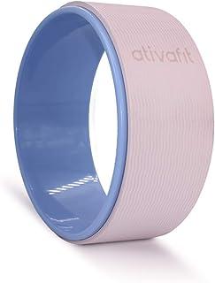 ATIVAFIT 运动瑜伽轮瑜伽滚轮瑜伽滚轮,缓解背部*和改善瑜伽姿势,非常适合拉伸,提高灵活性和后弯