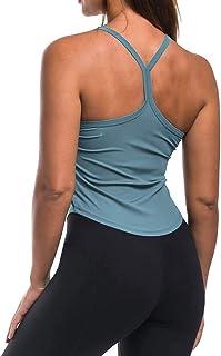 Mippo 女式瑜伽上衣锻炼衬衫,运动款,修身运动工字背心
