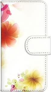 智能手机壳 手册式 对应全部机型 印刷手册 wn-533top 套 手册 花朵图案 UV印刷 壳WN-PR041608-MX AQUOS PHONE ZETA SH-01F 图案F