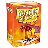Deck Protector Dragon Shield Matte Orange 100ct High Quality Arcane Tinmen