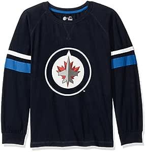 Profile Big & Tall NHL Winnipeg Jets 长袖 T 恤,双臂条纹,2X,*蓝
