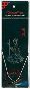 9 英寸(23 厘米)ChiaoGoo 红色(不锈钢)圆形编织针 Size-US-1.5-(2.5mm) CG-6009-1.5
