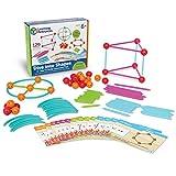 "Learning Resources 探索形状 抽插式拼接玩具,""海洋""和几何构建组合套装 129件(6岁+)"