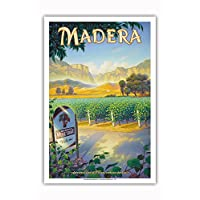 太平洋岛屿艺术 - Madera(圣节小谷)温泉 - Central Valley AVA Vineyards - 加利福尼亚葡萄*国家艺术 Kerne Erickson 出品 - 艺术大师印刷 12 x 18 in PRTBCS126