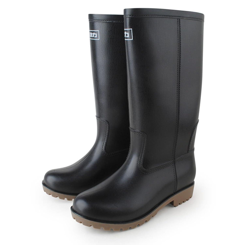 warrior 回力 雨鞋高筒雨靴水靴防水鞋钓鱼鞋 男款军旅机车靴工装鞋仿