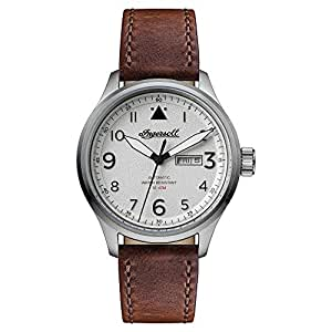 Ingersoll Men's 带子I01801 Analogue Leather Brown I01801