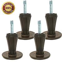 钢 STEM 塑料床画框 feet | 坚固床画框 legs | 4件套 | Protect YOUR 地板来自 Changing YOUR 床车轮带这些床画框 GLIDE | 深棕色 | 4件套