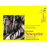 "Strathmore 307-818 300 Series Newsprint Pad, 18""x24"" Tape Bound, 50 Sheets"