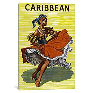 iCanvasART VAC66-1PC3-18x12 Carribean 2 By Vintage Apple Collection Canvas Print, 18 by 12-Inch, 0.75-Inch Deep