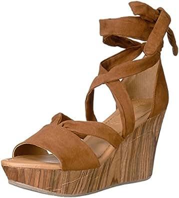 Kenneth Cole REACTION 女士鞋底 Rise 坡跟凉鞋 干邑色 5.5 M US