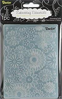 Darice 压花文件夹,4.25 X 5.75 英寸,花朵乱舞背景