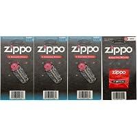 Zippo 之宝 打火机 可配套 火石3盒+棉芯1盒组合