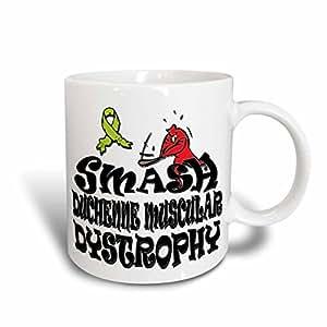 设计玫瑰金色 SMASH THE causes–SMASH duchenne MUSCULAR dystrophy–马克杯 白色 11-oz
