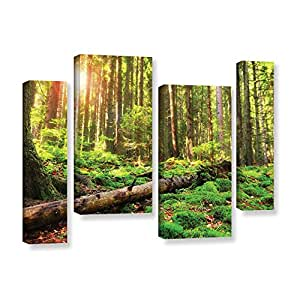 "ArtWall 4 Piece ""Dragos Dumitrascu's Back To Green"" Gallery Wrapped Canvas Artwork, 24"" x 36"""