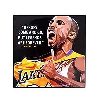 流行艺术著名篮球运动员灵感引言 [ 科比·布莱恩特] 加框亚克力帆布海报印刷艺术品 现代墙壁装饰 25.4 厘米 x 25.4 厘米 Kobe Bryant 10 x 10 inch