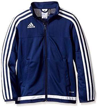 adidas 青年足球 tiro 15训练夹克, 蓝色, X-S