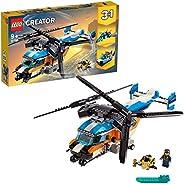 LEGO 31096 Creator 3 合 1 双转子直升机玩具,喷气和 ROV 潜水艇套装