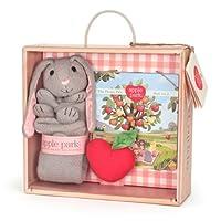 Apple Park 毛毯书和拨浪鼓礼品箱 兔子