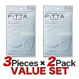 ARAX PITTA MASK 防尘口罩男女通用款非一次性可水洗防花粉抗***口罩3枚装 标准款白色2件