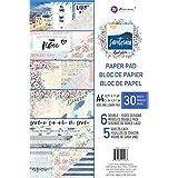 Prima Marketing Double-Sided Paper Pad A4 30/Pkg-Santorini, 6 Designs/5 Each