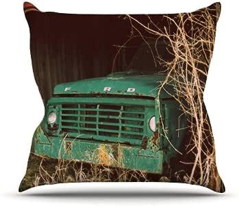 Kess InHouse Angie Turner Ford Teal 汽车室内/室外抱枕 26 in. 蓝绿色 AT1012AOP05
