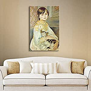 """ArtWall Pierre Renoir's Julie Manet with Cat Gallery Wrapped Canvas, 24 x 32"""""""