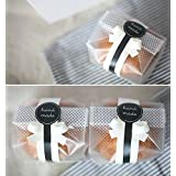 Yunko 100 个/包 半透明塑料袋 适用于饼干、蛋糕、巧克力、糖果、零食包装 适合烘焙派对带贴纸
