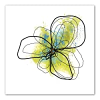 Art Wall Jan Weiss Citron Petals II Unwrapped Flat Canvas Art, 22 by 22-Inch