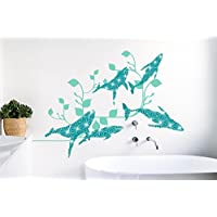Surface Collective Oceania Revisited Wall Decal, Teal/Mint