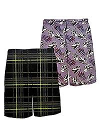 Up Late 男孩 2 件装睡裤,M 码 6/8,恐龙图案和格子印花