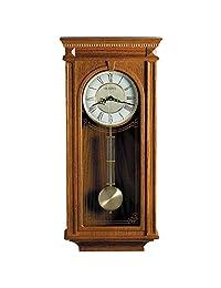 Bulova C4419 Manorcourt Clock, Golden Oak Finish