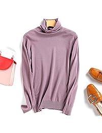 唐岚 100% 贴身穿不扎女士山羊绒衫 高领打底衫毛衣纯色针织绒衫