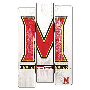 NCAA 马里兰赤土木栅栏标志,27.94 x 43.18 厘米
