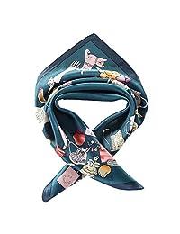 JWSilk 女式 * 丝绸围巾 小号 方形丝绸围巾