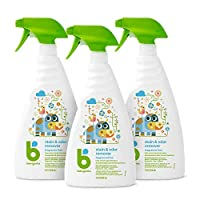 Babyganics Stain & Odor Remover Spray, 32oz, 3 pack, Packaging May Vary