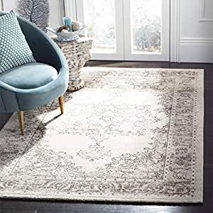 Safavieh Carmel 系列 CAR272B 复古东方米色和棕色小地毯