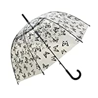 SMATI Stick 雨伞圆顶透明(增强版猫狗狗) - 自动开门女士儿童