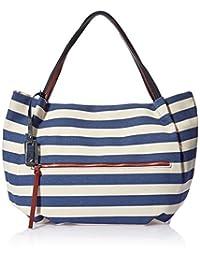 TOM TAILOR 女式 时尚手提包 NIKI 蓝色 45x12x26cm