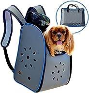 MyDeal 弹出式宠物背带背包,采用防风雨牛津材料,通风侧边和拉链顶端,适用于幼犬、狗、小猫、猫、兔子等! 包括袋