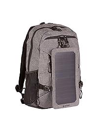 SunnyBAG 太阳能电池板背包:带太阳能充电的笔记本电脑背带:6 瓦特 USB 充电器背包。 适用于手机和笔记本电脑的动力背包,男女皆宜