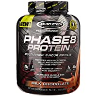 MuscleTech Phase8 Protein Powder, Sustained Release 8Hour Protein Shake, Milk Chocolate, 4.6 Pounds (2.10kg)
