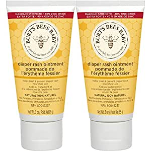 Burt's Bees Baby Bee 100% Natural Diaper Ointment, 3 Ounces 新配方 2 Pack 3 oz - 2 pack 6