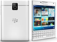 BlackBerry Passport Factory Unlocked 手机 4.5 英寸 32GB 13MP (白色) - 国际版无保修