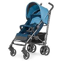 意大利 Chicco 智高 LiteWay乐维 轻便型婴儿推车 可坐可躺避震四轮伞车 (蓝色) (适合0-3岁宝宝 五点式安全带 一键收合 随车配防雨罩)