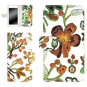 whitenuts 保护壳 手册式 【左撇子】 花朵刺绣印刷WN-OD322548 7_ Huawei nova CAN-L12 橙色